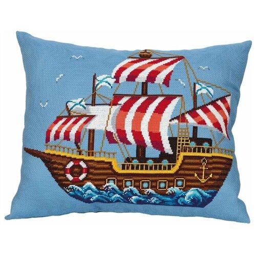 Купить PANNA Набор для вышивания ПД-7176 Подушка Корабль , Наборы для вышивания