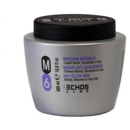 Echosline M6 Маска для волос для нейтрализации желтизны, 500 мл