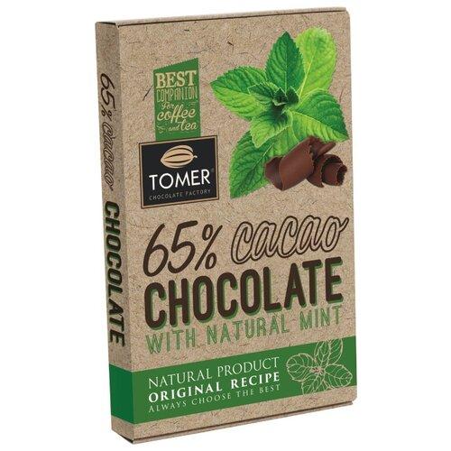 Шоколад Томер горький с мятой, 90 г