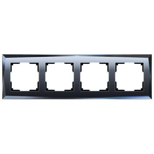 Рамка 4п Werkel WL08-Frame-04, черный