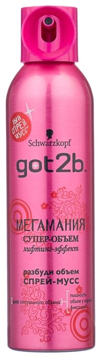 Got2b спрей-мусс Мегамания