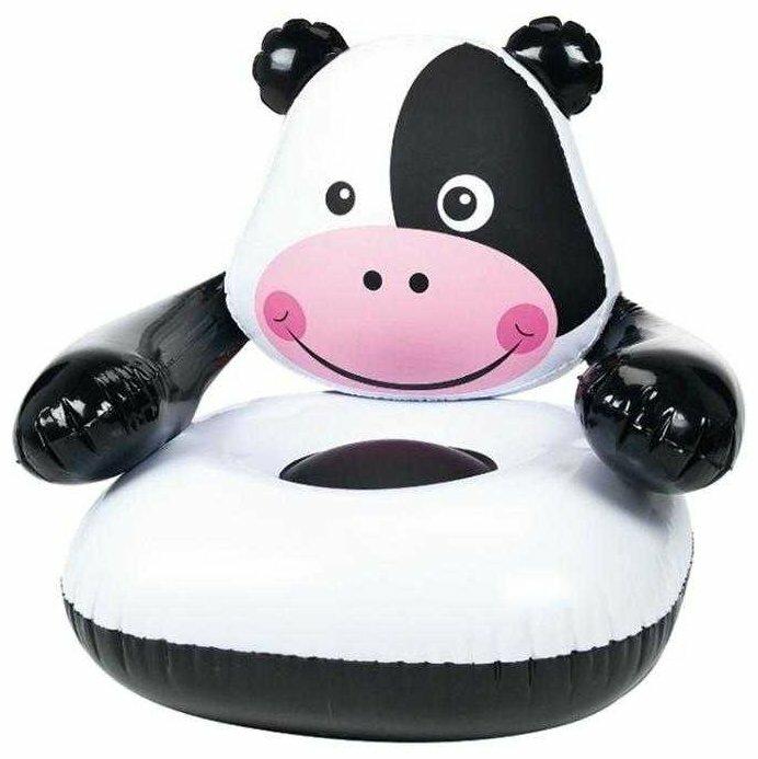 Надувное кресло Bestway Moo-Cow Inflatable Chair черно-белый