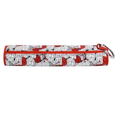 Купить Prym Футляр для спиц и крючков Merino (612037) красный/белый/серый, Инструменты и аксессуары