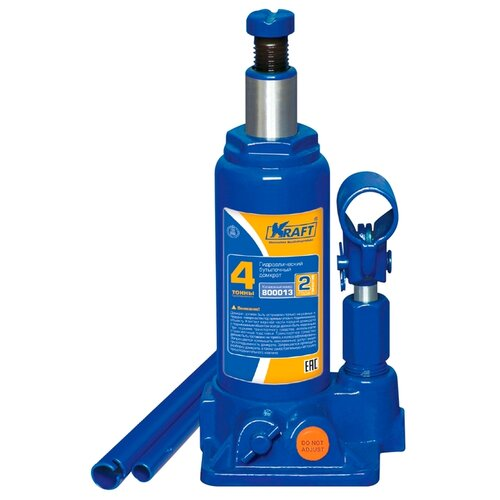Домкрат бутылочный гидравлический KRAFT КТ 800013 (4 т) синий
