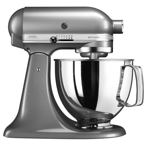 Миксер KitchenAid 5KSM125ECU, серебристый kitchenaid миксер ручной серебристый 5khm9212ecu kitchenaid
