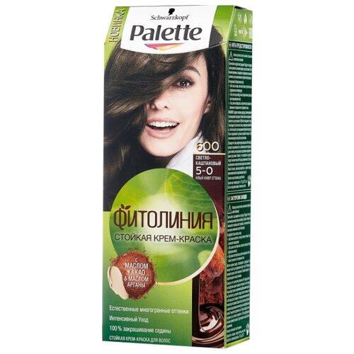 Фото - Palette Фитолиния Стойкая крем-краска для волос, 600 5-0 Светло-каштановый, 110 мл palette фитолиния стойкая крем краска для волос 868 3 68 шоколадно каштановый
