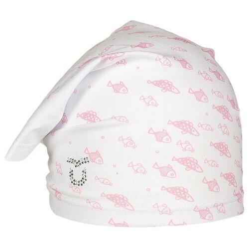 Купить Косынка ULTIS размер 44-46, белый с розовыми рыбками, Головные уборы