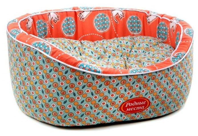 Лежак для кошек Родные места Премиум Персиковый кот, 43х38х15, (0,5 кг)