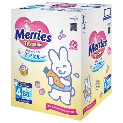 Купить Merries трусики L (9-14 кг) 88 шт., Подгузники