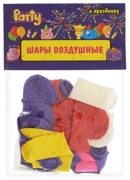 Шары воздушные сердечки разноцветные, 10 штук