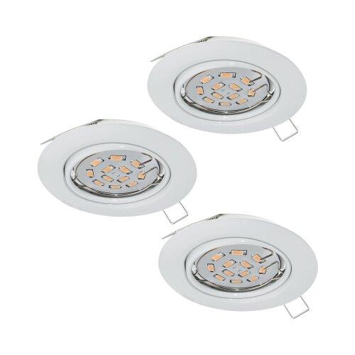 Встраиваемый светильник Eglo Peneto 3 шт. 94406 встраиваемый светодиодный светильник eglo peneto 1 95899