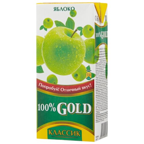 цена на Нектар 100% Gold Яблоко, 0.95 л