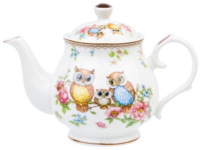 Купить Чайник 430 мл 18х10х13 см Elan Gallery Совушки по низкой цене с доставкой из Яндекс.Маркета (бывший Беру)