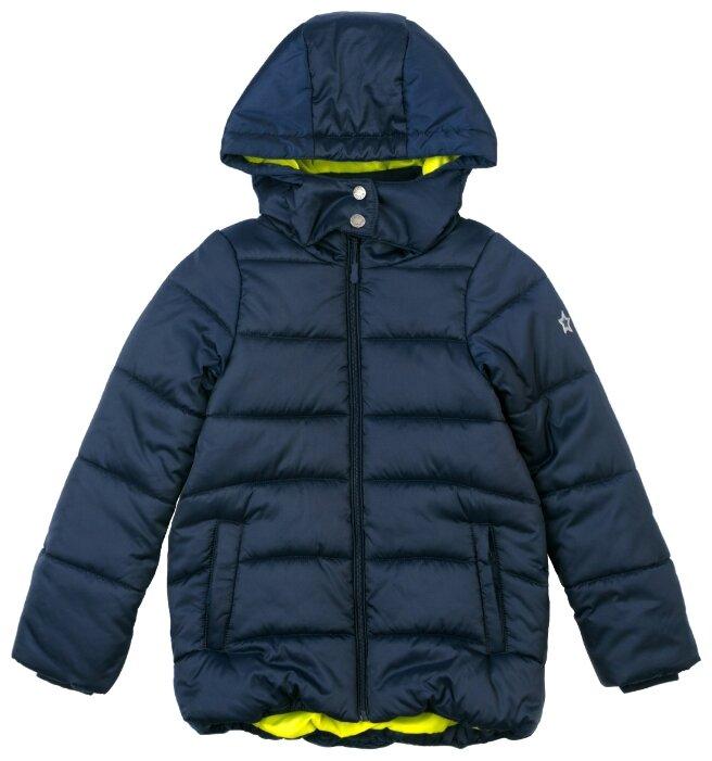 Куртка playToday Школа 384403 размер 122, темно-синий/светло-зеленый