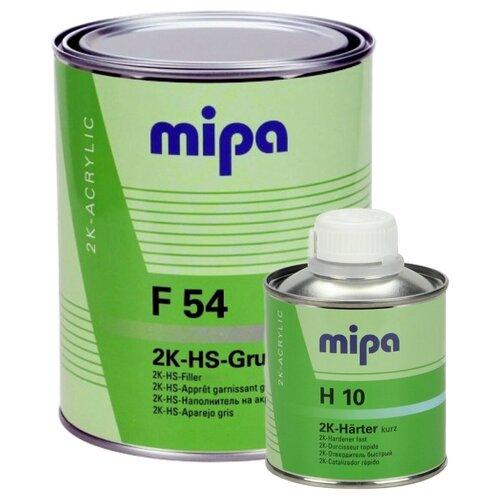 Mipa 2K HS 4+1 Grundfiller F54 Грунт-выравниватель (толщина покрытия до 180 мкм), в комплекте с отвердителем (1л + 0,25л)