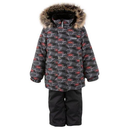 Купить Комплект с полукомбинезоном KERRY Ronin K20420B (09890) размер 104, серый/черный, Комплекты верхней одежды
