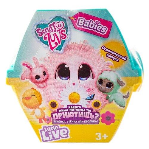 Мягкая игрушка-сюрприз Scruff a Luvs Пушистик-потеряшка Babies в переноске
