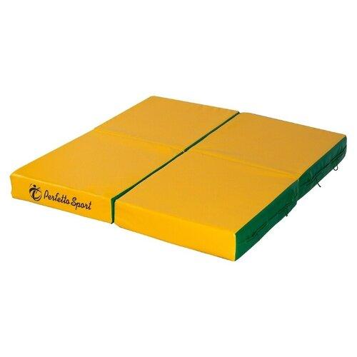 Спортивный мат 1000х1000х100 мм Perfetto Sport № 11 зелёно/жёлтый