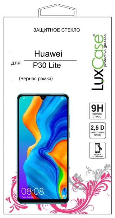 Защитное стекло LuxCase 2.5D FG для Huawei P30 Lite черный