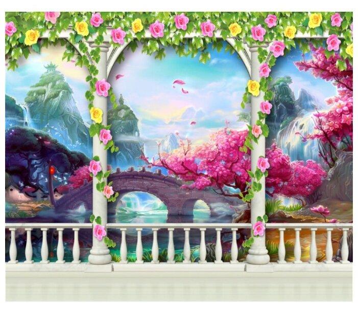 Фотообои флизелиновые детские Design Studio 3D Мир фантазии 3х2.5м
