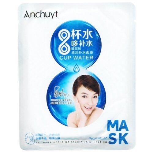AnchuYt 8 Cup Water HA Translucent Moisturizing Hydrating Mask Тканевая маска Глубокое увлажнение, 28 г