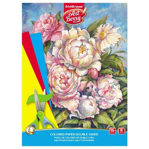 Цветная бумага Пионы ArtBerry, A4, 16 л., 8 цв. цветная бумага disney cars 16 цв