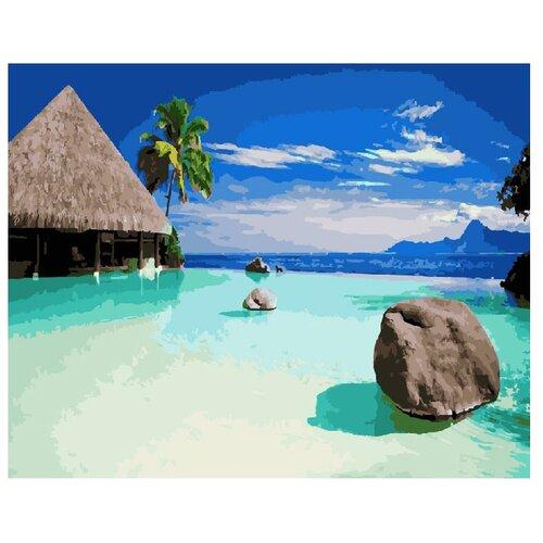 Купить ВанГогВоМне Картина по номерам Пляж в Доминикане , 40х50 см (ZX 21327), Картины по номерам и контурам