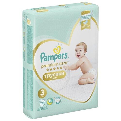 Купить Pampers Premium Care трусики 3 (6-11 кг) 70 шт., Подгузники
