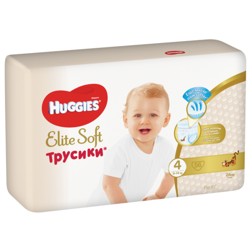 Huggies Elite Soft трусики 4 (9-14 кг) 56 шт.
