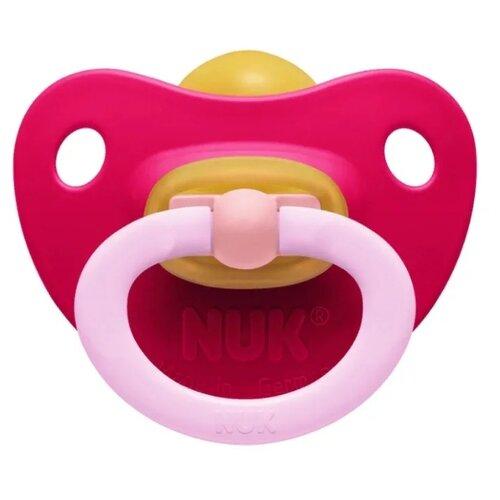 Пустышка латексная ортодонтическая NUK Classic Soft 0-6 м (1 шт) красныйПустышки и аксессуары<br>