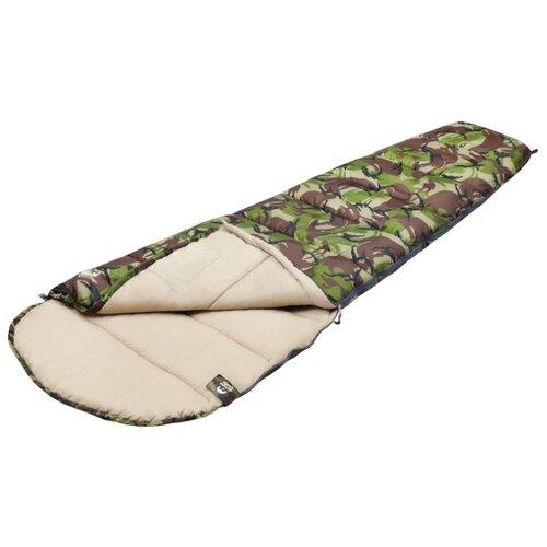 Спальный мешок Jungle Camp Raptor камуфляж с левой стороны