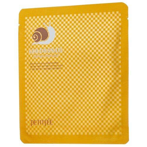 Petitfee Гидрогелевая маска для лица с золотом и экстрактом слизи улитки, 30 г гидрогелевая маска золото и экстракт улитки