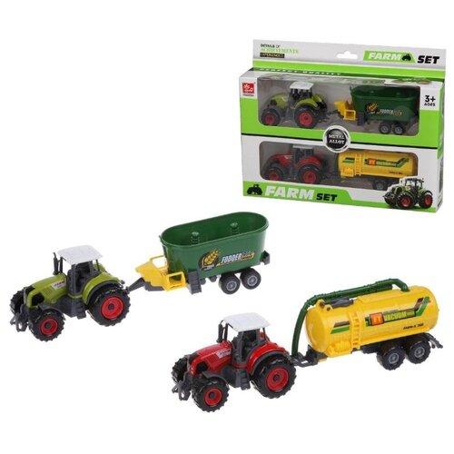 Купить Трактор Наша Игрушка с прицепом, 2 шт (без механизма) (SQ90222-6B), Наша игрушка, Машинки и техника