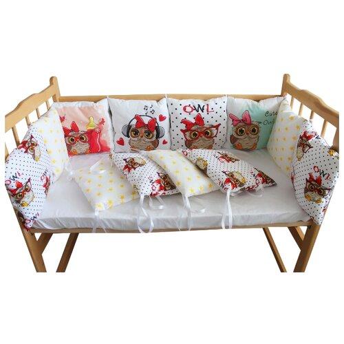 Valena бортики в кроватку Совунья белый бортики в кроватку leader kids мишки с коляской