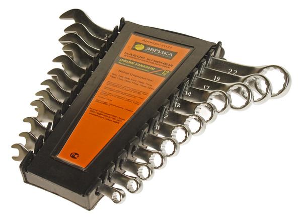 Набор гаечных ключей Эврика ER-31122 (12 предм.) — купить по выгодной цене на Яндекс.Маркете