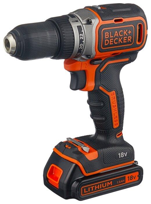 Купить Аккумуляторная дрель-шуруповерт BLACK+DECKER BL186KB 52 Н·м черный/оранжевый по низкой цене с доставкой из Яндекс.Маркета
