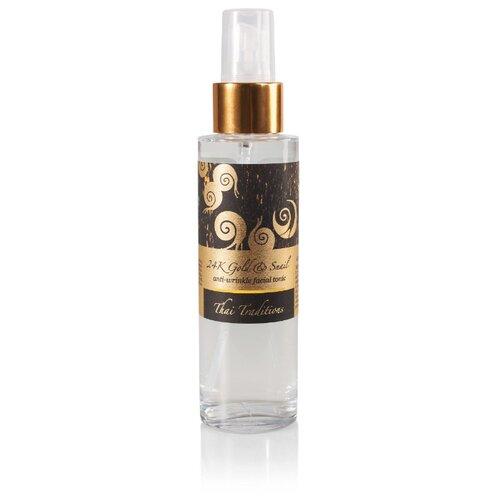 Тоник Thai Traditions 24K Gold & Snail Anti-Wrinkle Facial Tonic Золотая улитка для лица восстанавливающий 40+ 100 мл