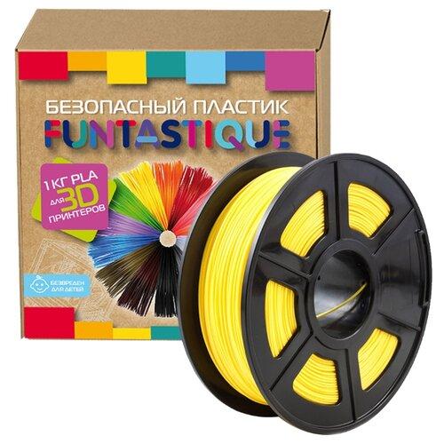 PLA пруток Funtastique 1.75 мм желтый 1 кг