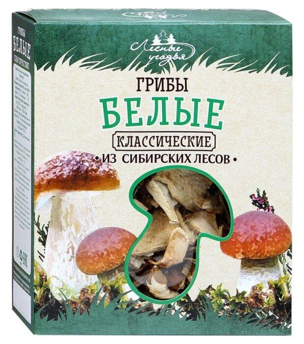 Лесные Угодья Грибы белые резаные сушеные, коробка картонная (Россия)