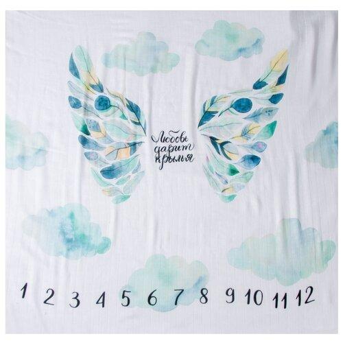 Купить Многоразовые пеленки MamSi хлопковый муслин 120х120 С крыльями, Пеленки, клеенки