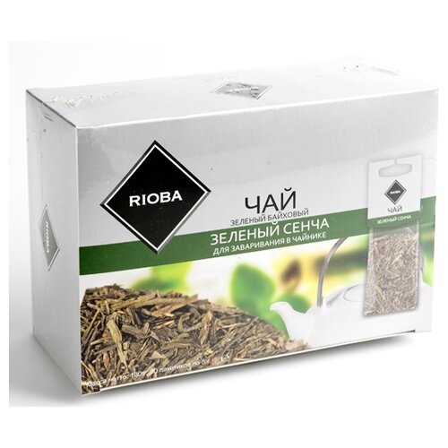 Чай зеленый Rioba Зеленый Сенча для заваривания в чайнике в пакетиках, 100 г 20 шт.