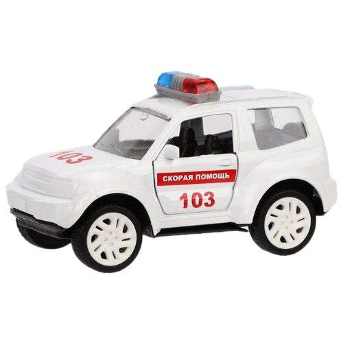 Купить Легковой автомобиль Пламенный мотор 870359 9 см белый, Машинки и техника