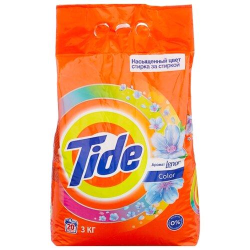 Стиральный порошок Tide Lenor Touch of Scent Color (автомат) 3 кг пластиковый пакет стиральный порошок sandokkaebi se plus 3 3 кг пластиковый пакет