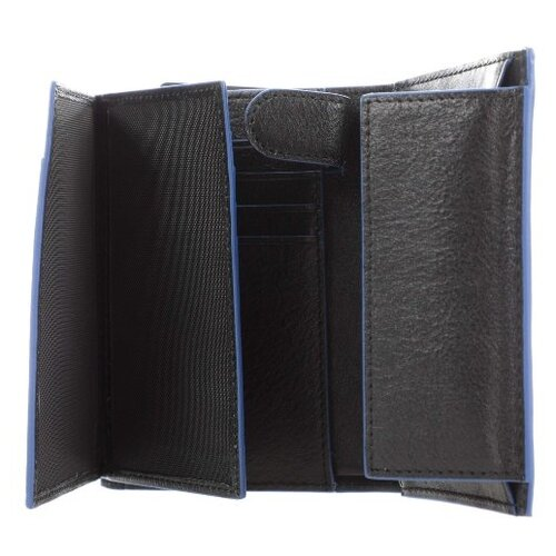 Кошелек PIQUADRO PU1740B2SR, натуральная кожа черный кошелек reconds сompact натуральная кожа черный