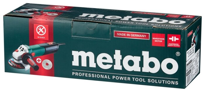 УШМ Metabo WEV 15-125 Quick коробка, 1550 Вт, 125 мм