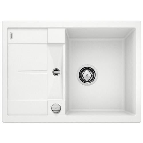 Врезная кухонная мойка 68 см Blanco Metra 45S Compact белый врезная кухонная мойка 78 см blanco metra 45s 525311 бетон