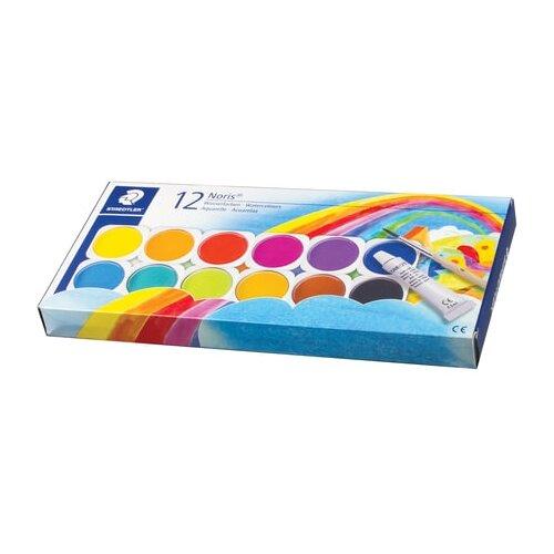 Купить Staedtler краски акварельные 12 цветов с белилами, кистью (888 NC12), Краски