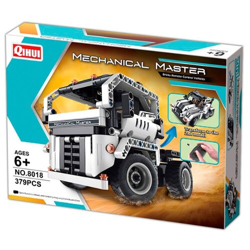 Купить Электромеханический конструктор QiHui Mechanical Master 8018 Стальные тягачи 2 в 1, Конструкторы