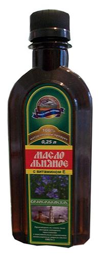 Волоколамское Масло льняное пищевое витаминизированное нерафинированное с витамином Е