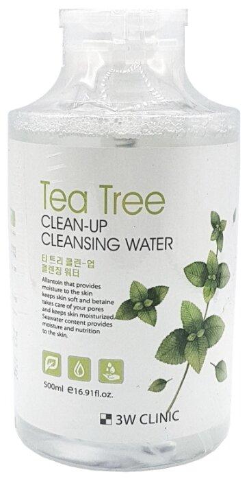 3W Clinic очищающая вода с экстрактом чайного